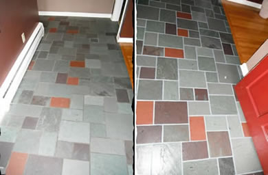 ColorClad Grout Sealing - Before & After